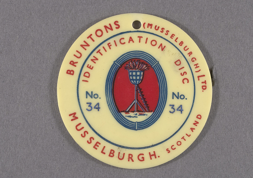 Pin, Lapel, War Worker, Bruntons (Musselburgh) Ltd.