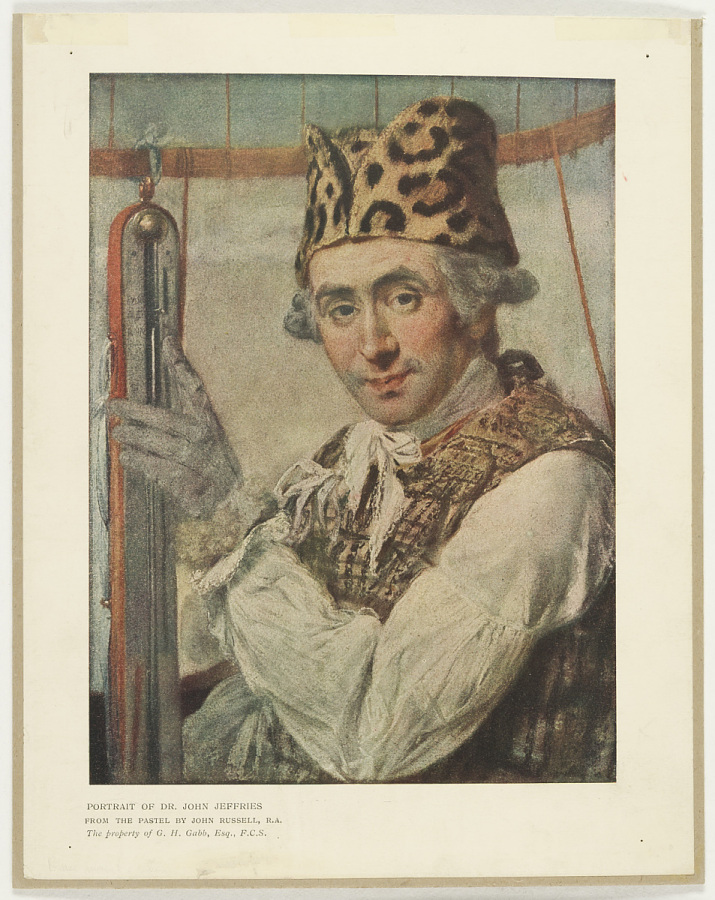Print, Offset Lithographic on Paper, PORTRAIT OF DR. JOHN JEFFRIES. FROM THE PASTEL BY JOHN RUSSELL, R.A.