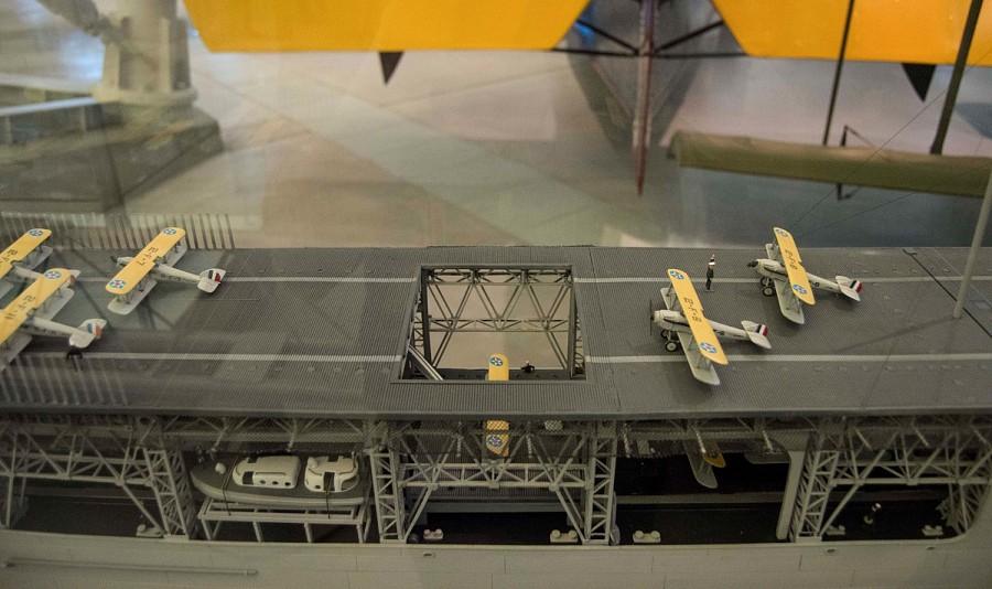 Model, USS Langley