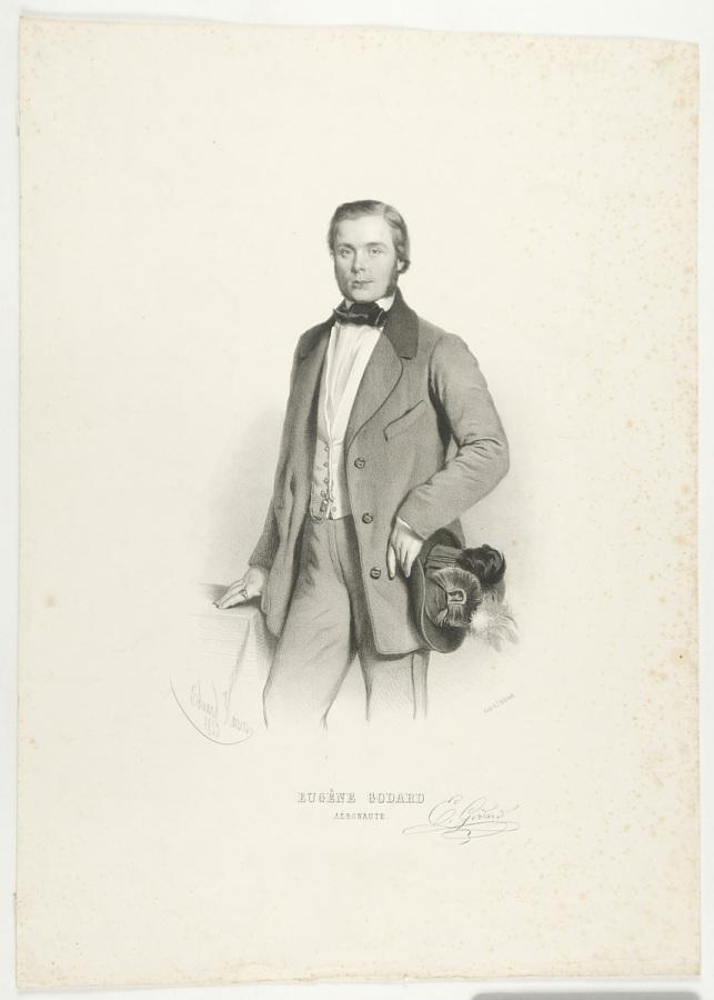 Print, Lithograph on Paper, Uncolored, EUGÉNE GODARD, AÉRONAUTE.