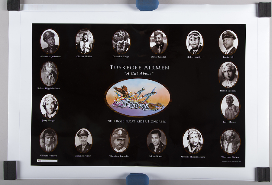 Poster, Tuskegee Airman Rose Bowl Parade
