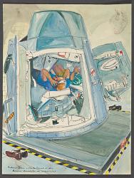 Gordon and Conrad in Gemini Simulator