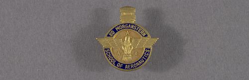 Pin, Lapel, Ed Morganstern School of Aeronautics