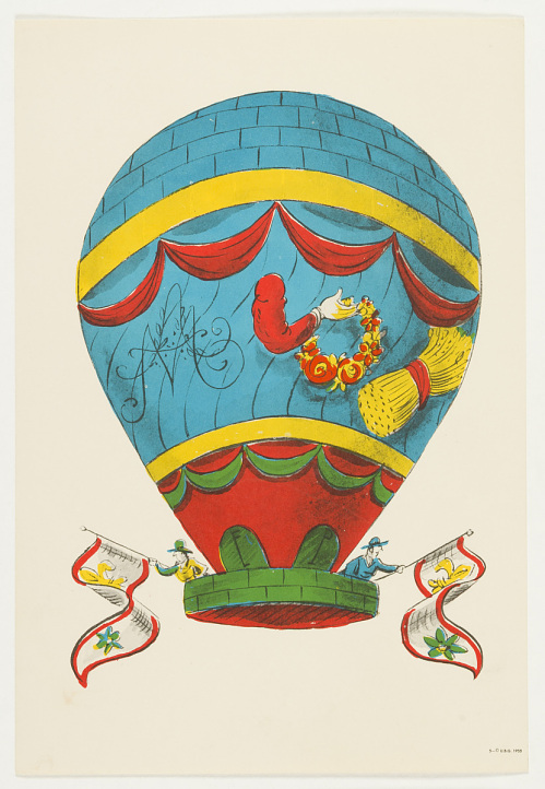 Untitled: Balloon. One of set of balloon prints for children.