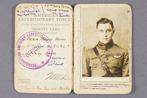 Card, Identification, United States Army Air Service, Arthur Raymond Brooks