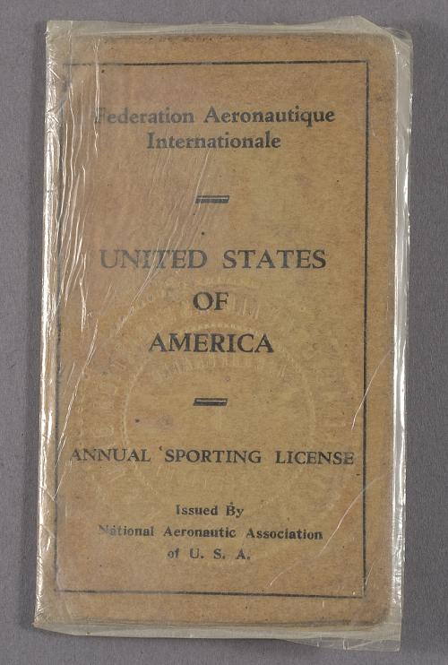 License, Pilot's, John S. Donaldson