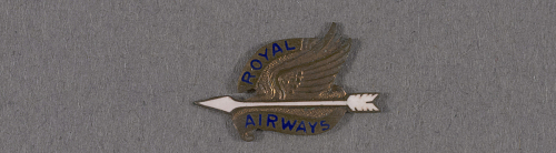 Pin, Lapel, Royal Airways Ltd.