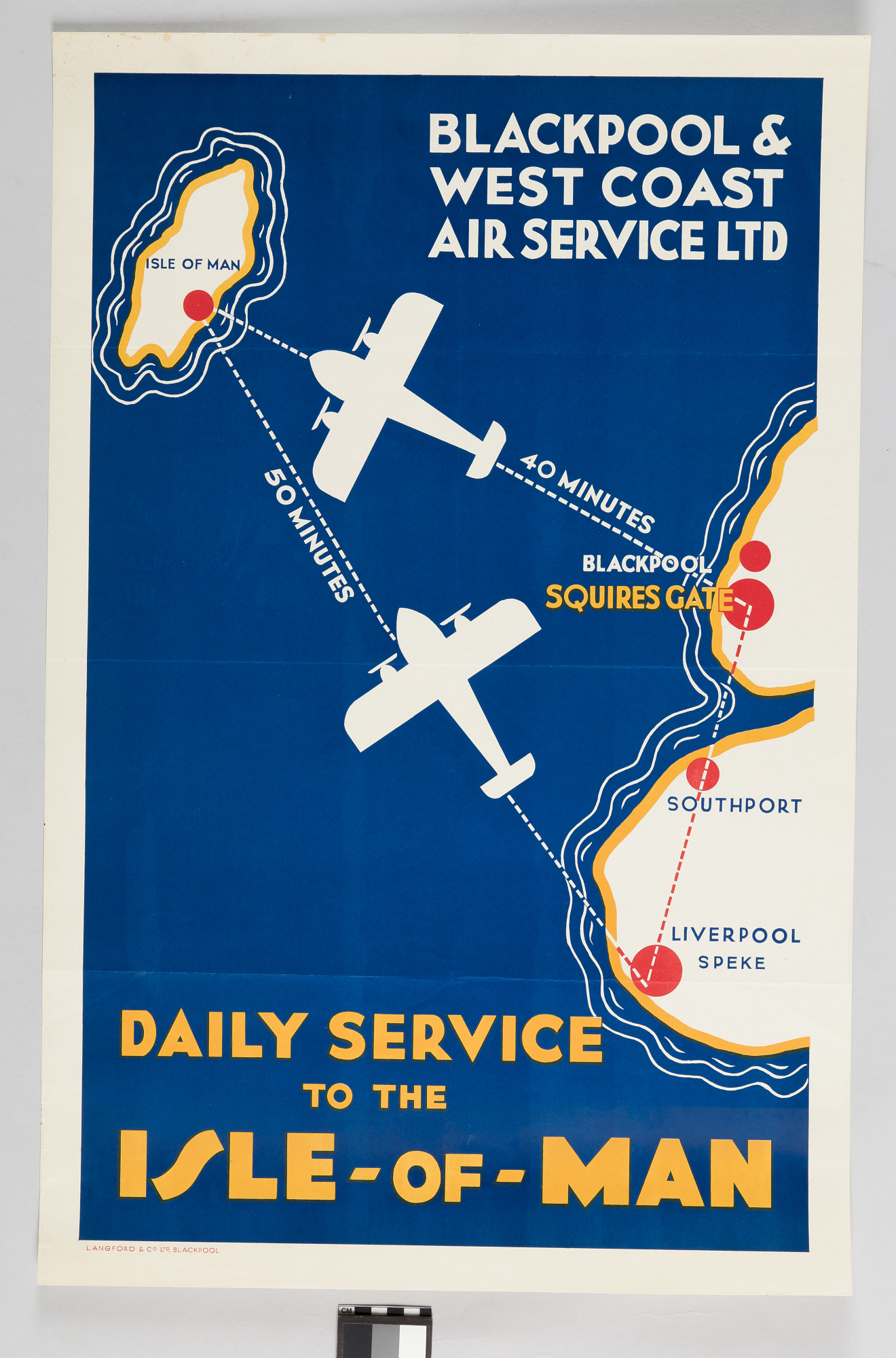 Blackpool West Coast Air Service Ltd Daily Service To The Isle Of Man Smithsonian Institution
