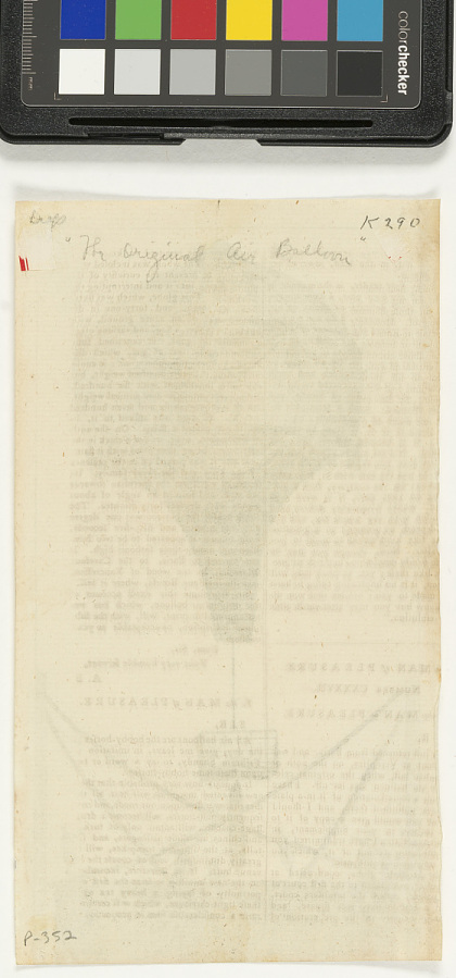 Untitled: 'The Original Air Balloon, Vol. XV' noted in pencil on reverse