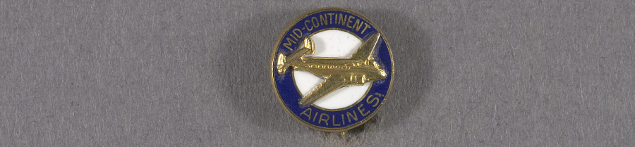 Pin, Lapel, Mid Continent Airlines