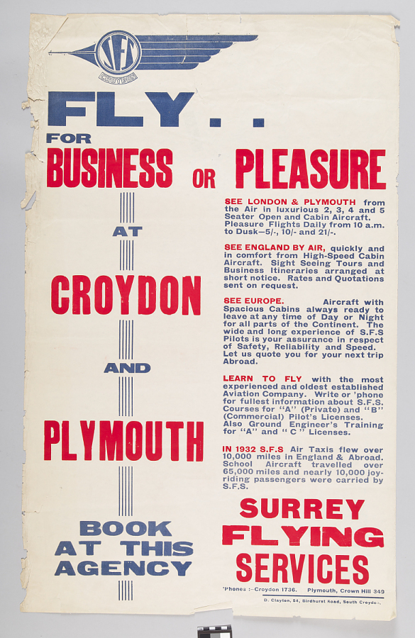 Fly for Business or Pleasure at Croydon and Plymouth