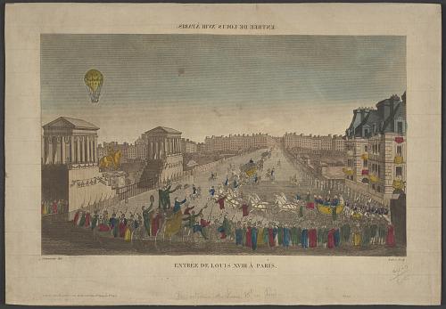 Entree de Louis XVIII A Paris