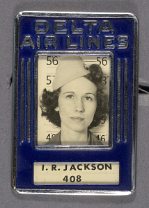 images for Badge, Identification, Flight Attendant, Delta Airlines-thumbnail 1