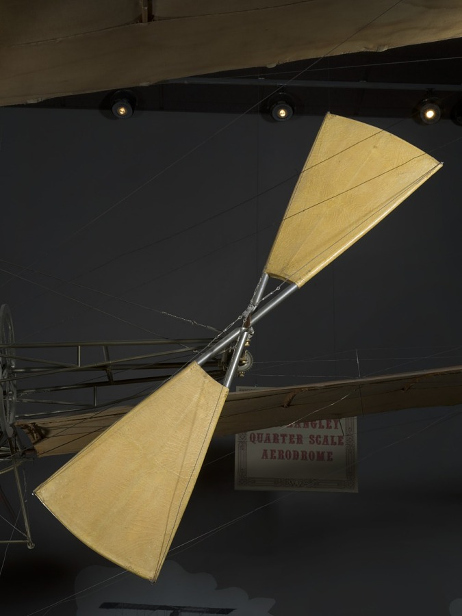 Canvas covered propeller of Langley Quarter-scale Aerodrome aircraft