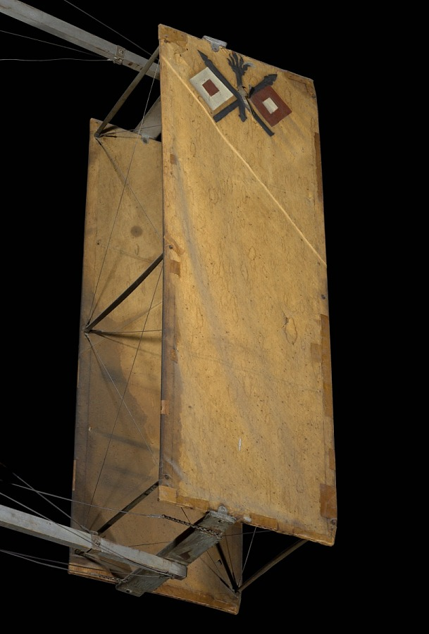 Canvas boxed-shaped part of 1909 Wright Military Flyer aircraft