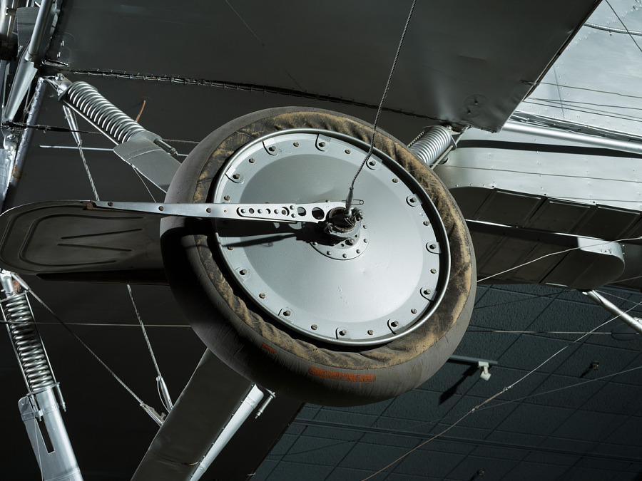 Tire and wheel of Voisin Type 8 biplane