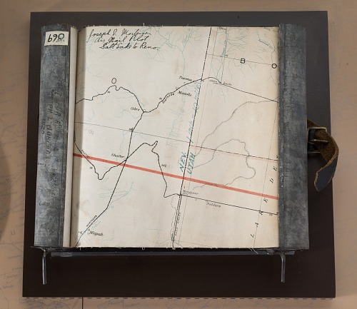 Map, Airmail Route, Reno Nevada to Salt Lake City Utah