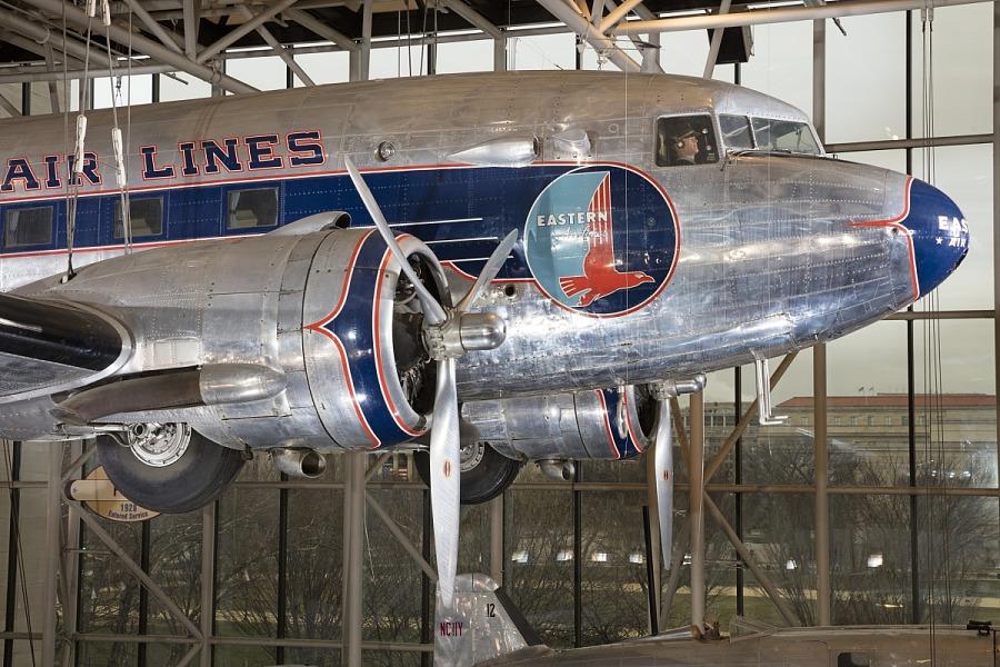 Engine and nose of Douglas DC-3 aircraft
