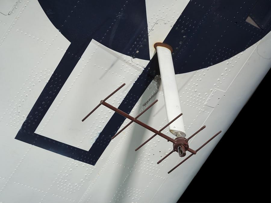 Antennae on Douglas SBD-6 Dauntless wing
