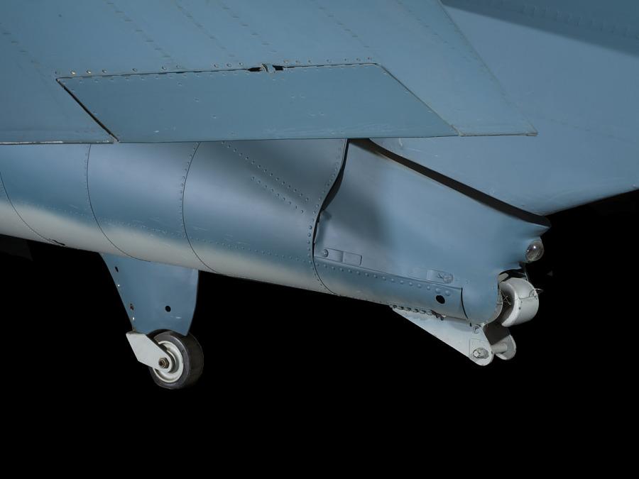 Two smaller rear wheels of Grumman FM-1 (F4F-4) Wildcat aircraft