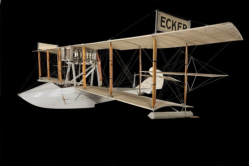Cloth, wood, and metal Ecker Flying Boat