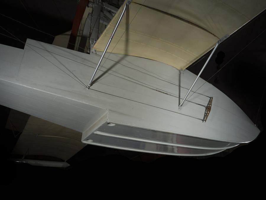 Metal boat portion of Ecker Flying Boat