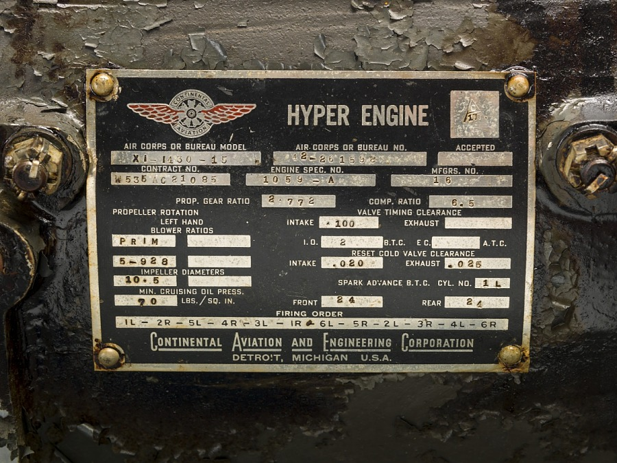 Continental Hyper XI-1430-15, Inverted V-12 Engine
