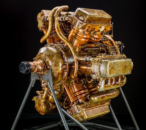 Wright XR-2120, Radial 12 Engine, Cutaway