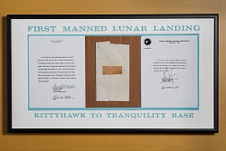 Plaque, Wright Brothers 1903 and Apollo 11 Flights