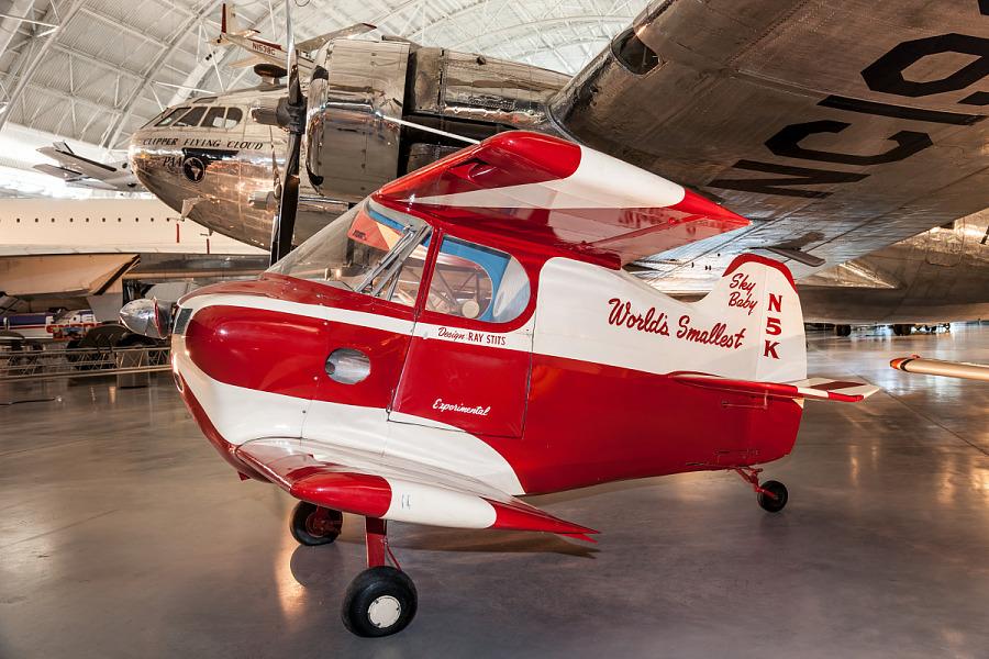 Stits SA-2A Sky Baby on display at the Steven F. Udvar-Hazy Center.
