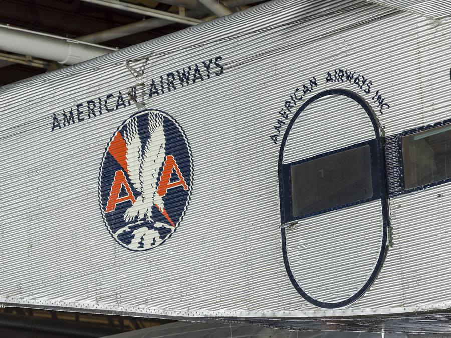 American Airways Colonial Division Logo on side of Ford 5-AT Tri-Motor