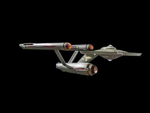 "Model, Starship Enterprise, Television Show, ""Star Trek"""