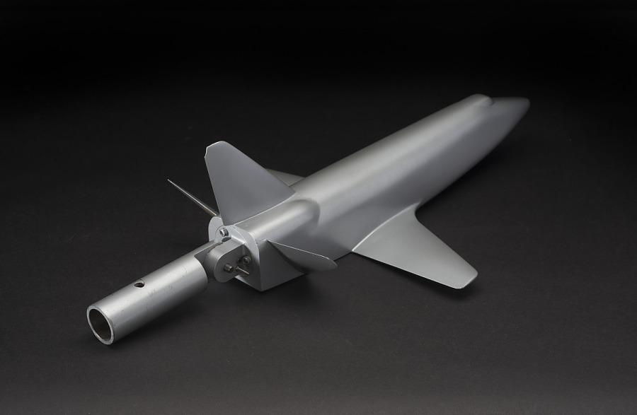 Model, Space Shuttle, Straight-Wing Low Cross-Range Orbiter Concept