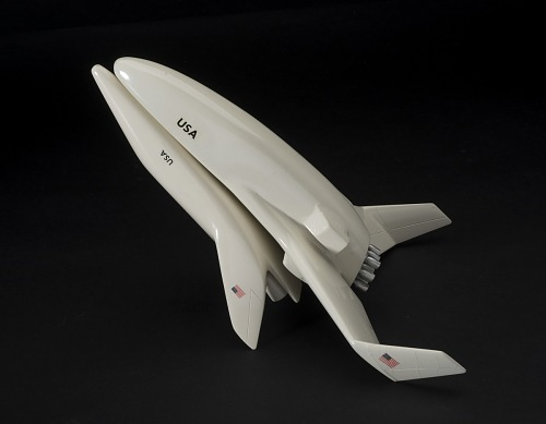Model, Space Shuttle, Lockheed Fully Reusable Concept, 1:200