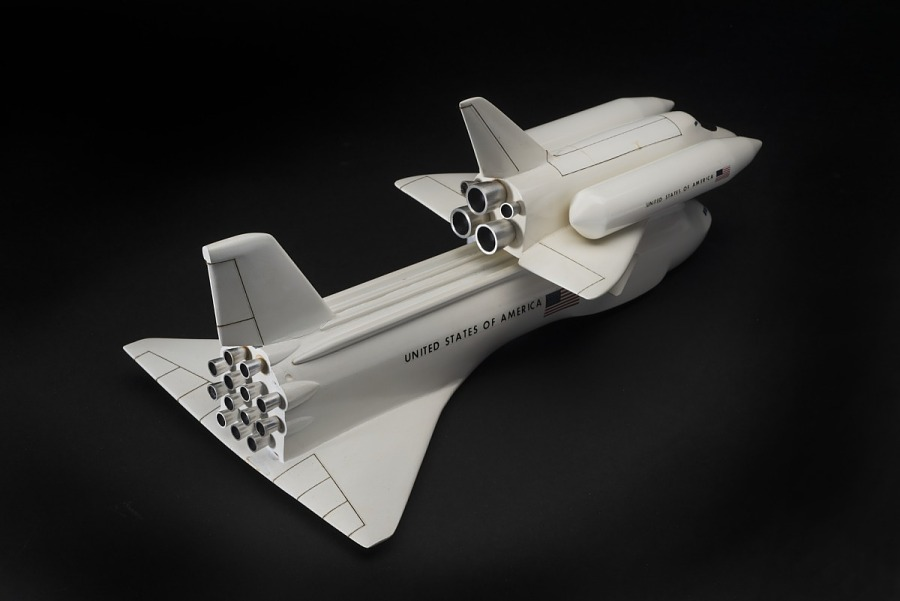 Model, Space Shuttle, North American Rockwell, Partially Reusable Concept, 1:200