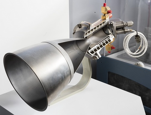 Rocket Engine, Liquid Fuel, Radiamic, Cutaway; also Designated C-1