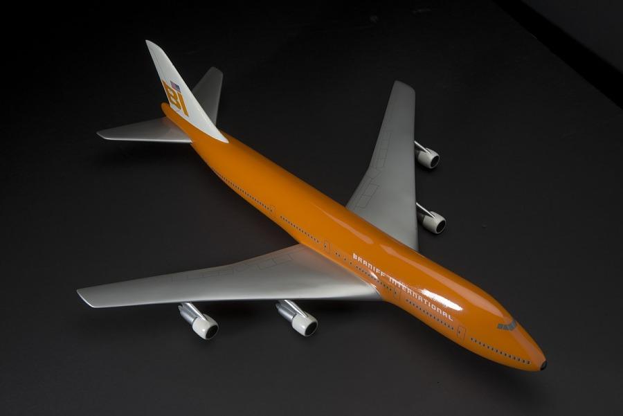 Model, Static, Boeing 747, Braniff International