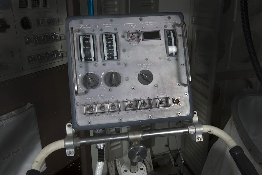 Attached panel with gauges and switches on handlebar