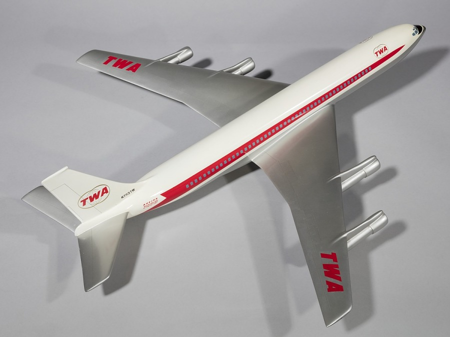 Model, Static, Boeing 707-331B, Trans World Airlines (TWA)