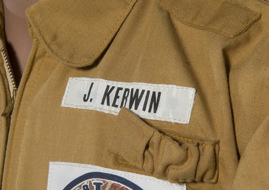 J. Kerwin Nametag on tan woven durette Skylab 2 Jacket