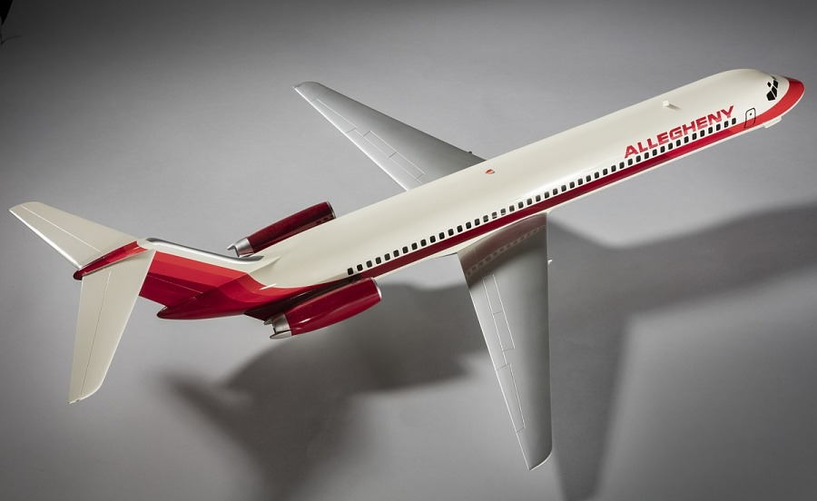 Model, Static, Douglas DC-9-30, Allegheny Airlines