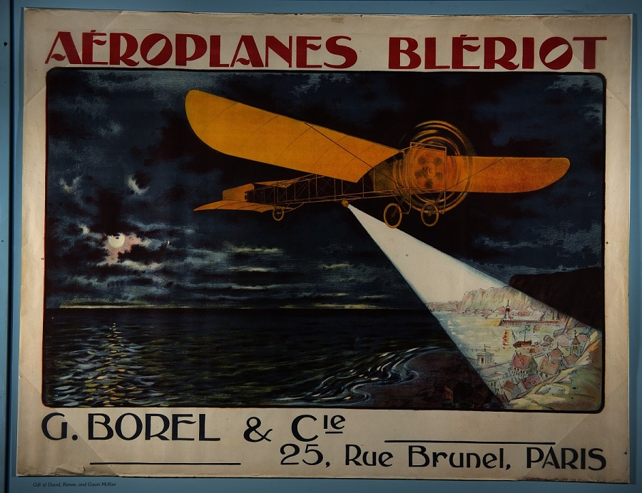 Lithograph on Paper-Poster, AEROPLANES BLERIOT