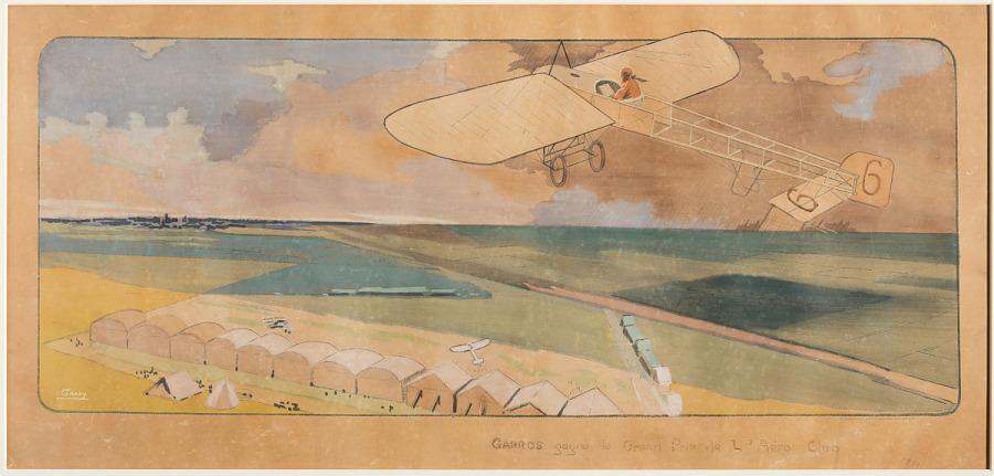 Garros Gagne le Grand Prix de l'aero club, 1912