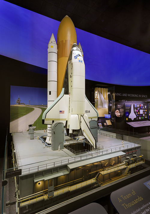 Front of Space Shuttle Model in museum