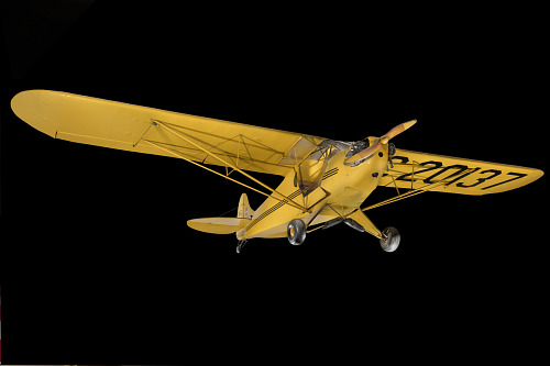 Yellow Piper J-2 Cub