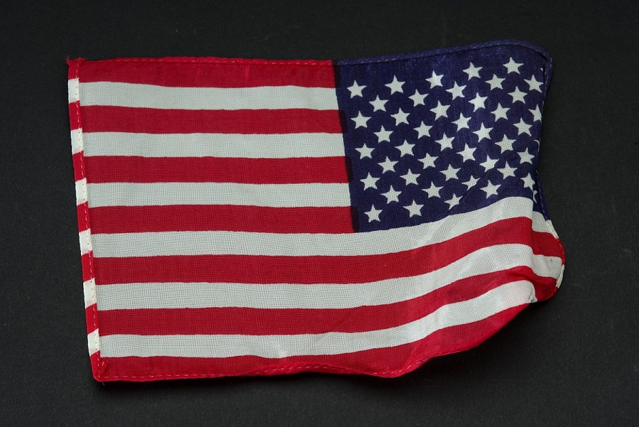 Flipped Apollo 11 United States of America cloth Flag