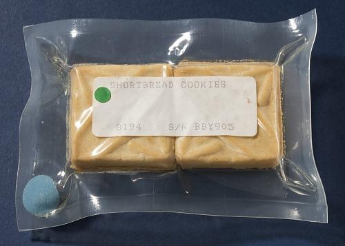 Space Food, Shortbread Cookies, STS-27