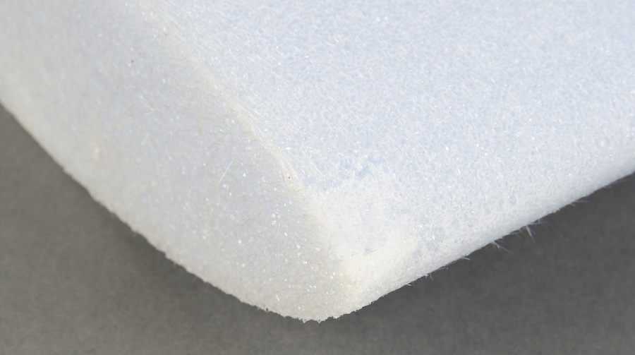 Rounded edge of white Foam Canard Core