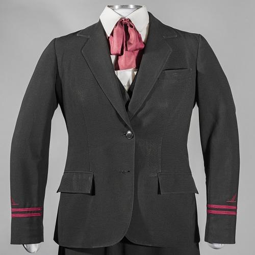 Coat, Flight Attendant, Piedmont, 1989