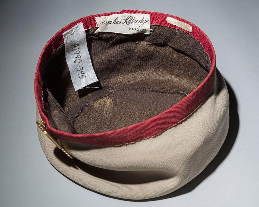Hat, Flight Attendant, Continental Airlines, ca. 1941